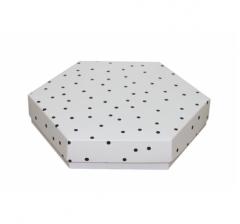 Коробка подарочная 200*200*40 мм, дизайн 2020-9, белое дно