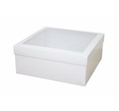 Коробка подарочная с окном 240*240*100 мм, белая