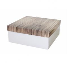 Коробка подарочная 245*245*100 мм, дизайн 2020-5, белое дно