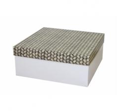 Коробка подарочная 245*245*100 мм, дизайн 2020-12, белое дно