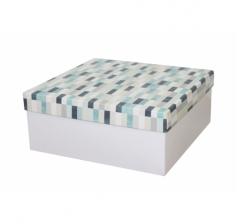 Коробка подарочная 245*245*100 мм, дизайн 2020-10, белое дно