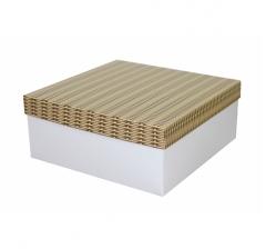 Коробка подарочная 245*245*100 мм, дизайн 2020-6, белое дно