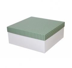 Коробка подарочная 245*245*100 мм, дизайн 2020-7, белое дно
