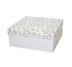 Коробка подарочная 245*245*100 мм, дизайн 2020-1, белое дно