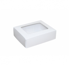Размер 90*70*30 мм, белая коробка с окном