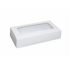 Размер 180*90*40 мм, белая коробка с окном