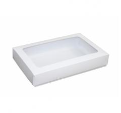 Коробка подарочная 230*150*40, белая с окном