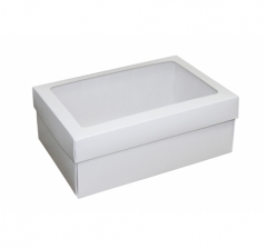 Размер 270*180*110 ММ, белая коробка с окном