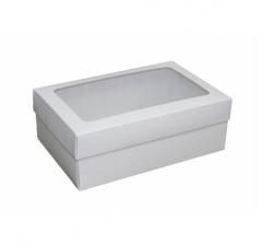 Коробка подарочная 230*150*85, белая с окном