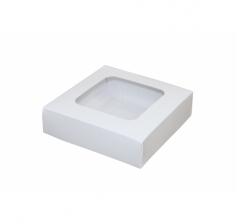 Размер 110*110*30 ММ, белая коробка с окном