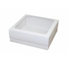 Коробка 230*230*80 мм белая с окном