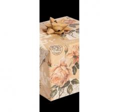 Бумага подарочная крафт 70 см*200 см, розы и печати