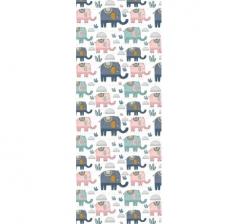 Бумага подарочная 70 см*100 см, слоны