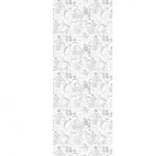 Бумага подарочная 70 см*100 см, бело-розовые цветы