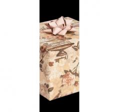 Бумага подарочная крафт 70 см*200 см, клетка и розы