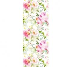 Бумага подарочная 70 см*100 см, акварельные цветы