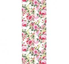 Бумага подарочная 70 см*100 см, садовые цветы