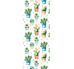 Бумага подарочная 70 см*100 см, кактусы