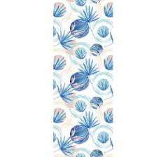 Бумага подарочная 70 см*100 см, голубые тропики