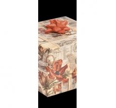 Бумага подарочная крафт 70 см*200 см, красные цветы