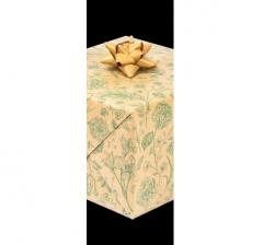 Бумага подарочная крафт 70 см*200 см, зеленые цветы