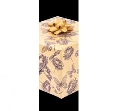 Бумага подарочная крафт 70 см*200 см, синие цветы